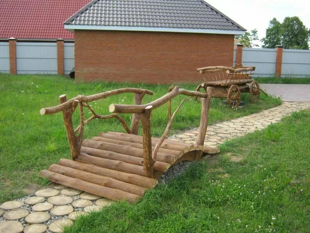 Декоративный мостик своими руками