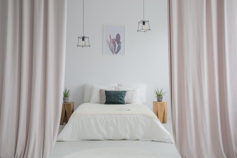 separar ambientes con cortinas