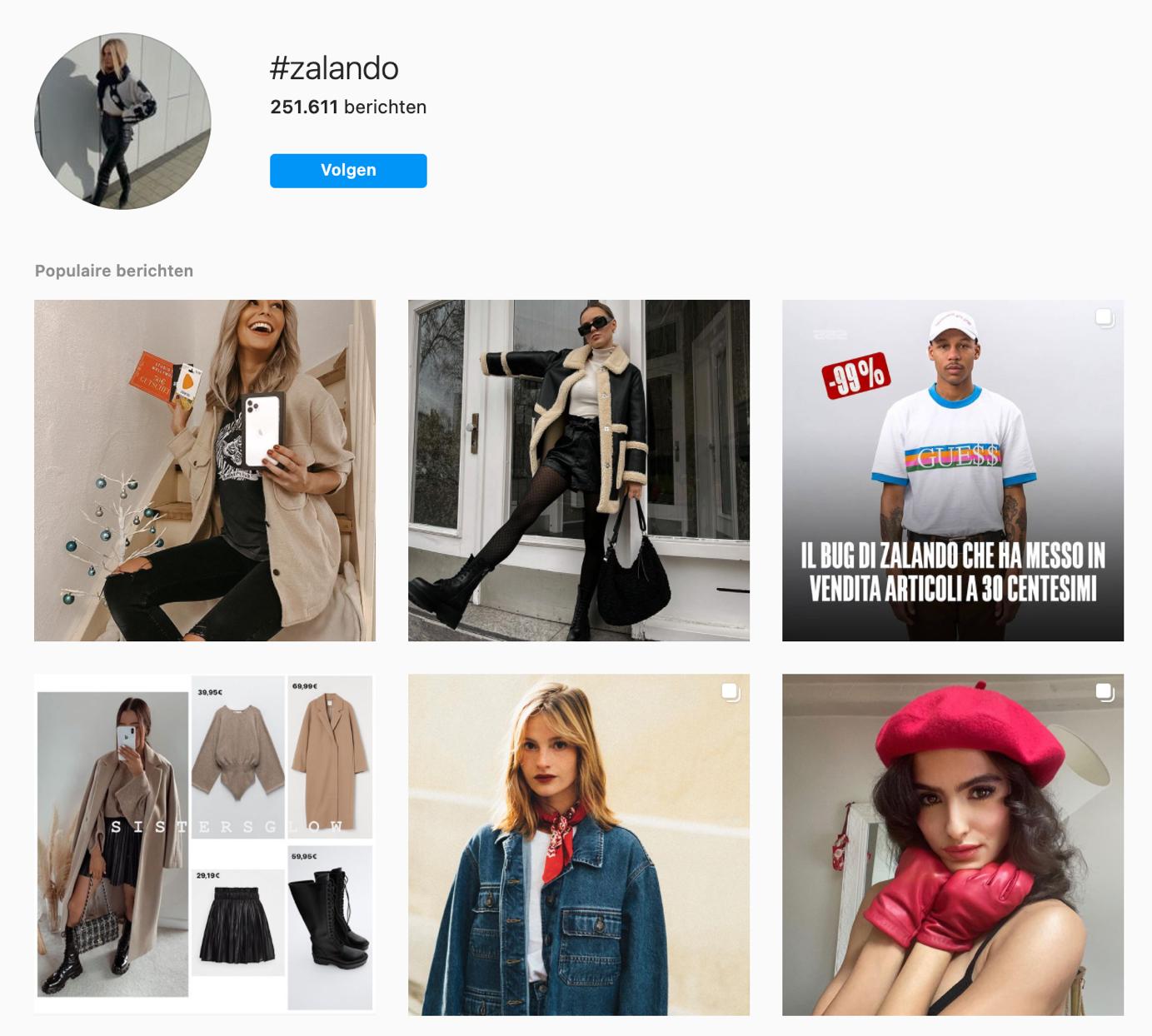 Zalando user generated content
