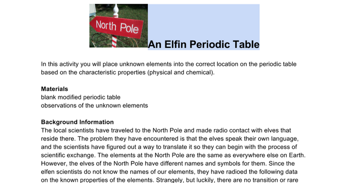 Elven periodic table saket bakshi google docs urtaz Images