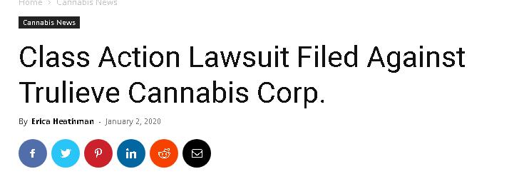 Trulieve Cannabis lawsuit