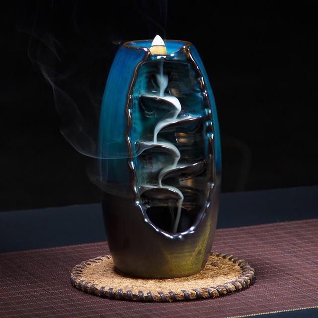 Inspire Uplift Mountain River Handicraft Incense Holder