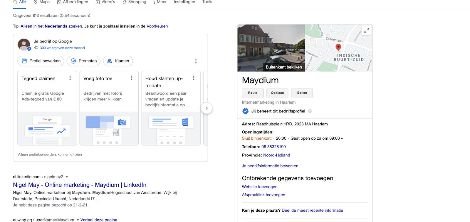 Google mijn bedrijf instellen