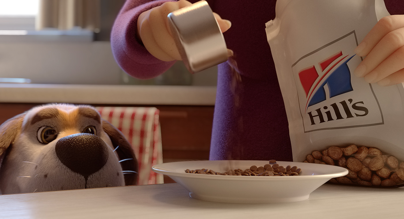 3D animation  CGI dog Advertising  campaign