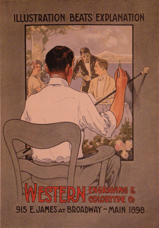 image showing a man creating an illustration