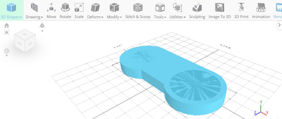 3D designing a video controller