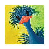 canvas painting design - Ostrich