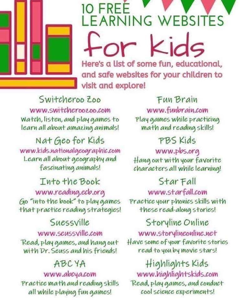 分享下最近搜集的homeschool可用的免费网络教育资源