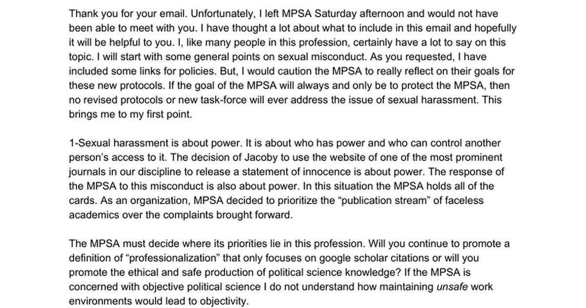 MPSA Sexual Harassment Email - Google Docs