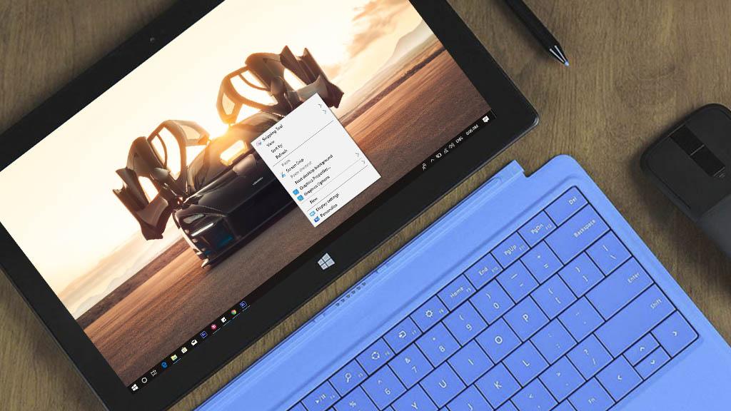 Thêm tính năng chụp màn hình vào phím chuột phải trên Windows 10