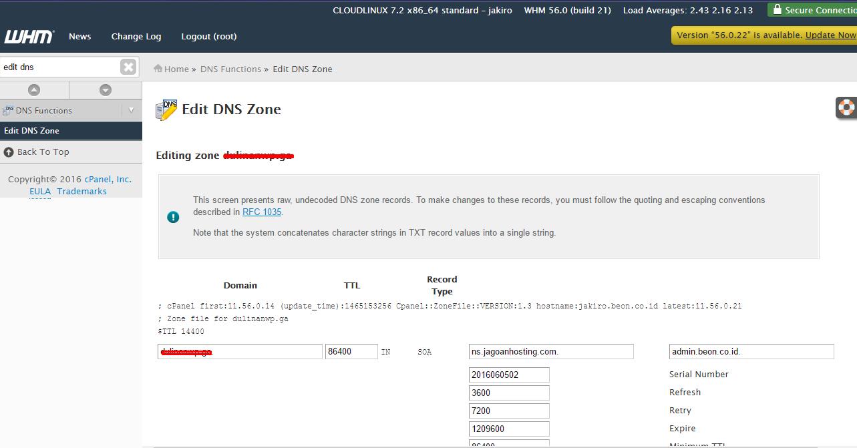 Menyelesaikan kendala resolve DNS pelanggan di bawah akun Reseller