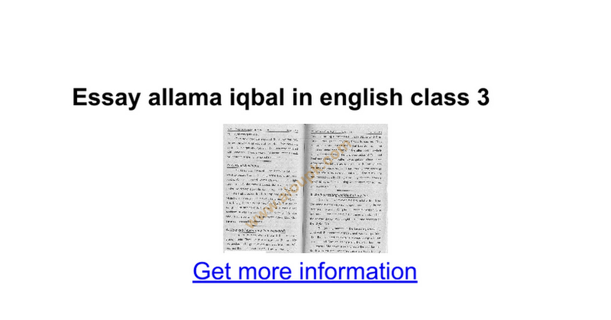 essay allama iqbal in english class google docs