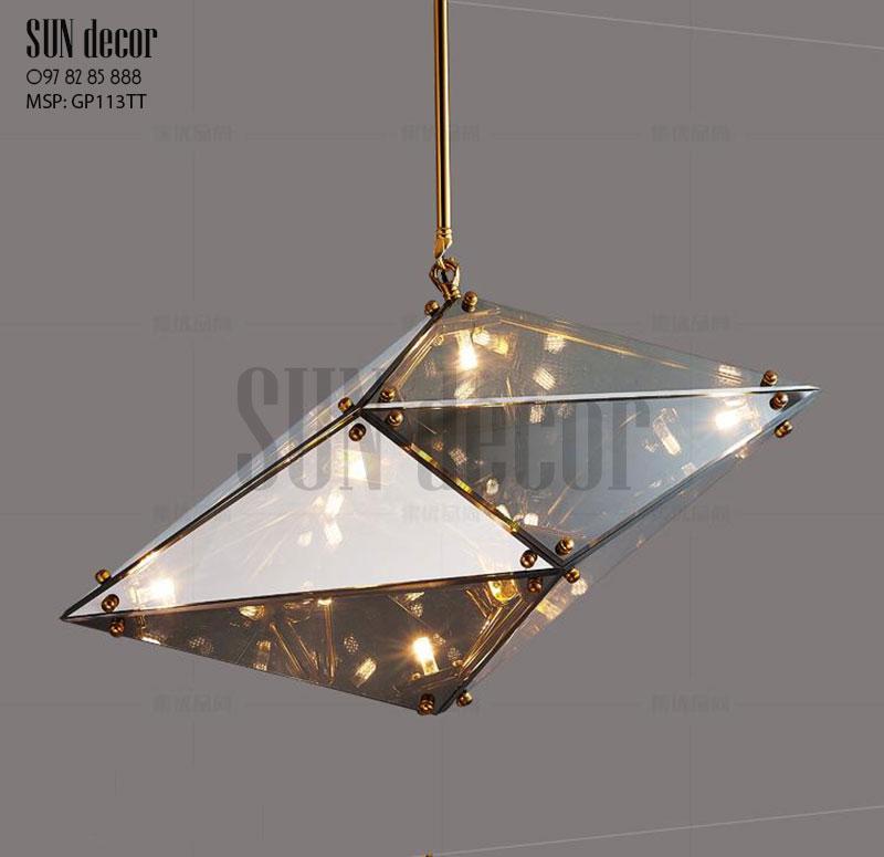 Đèn chùm hiện đại - Viên kim cương Pha lê - GP113T