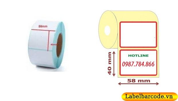 Kích thước giấy in tem cân điện tử phổ biến nhất được sử dụng hiện nay