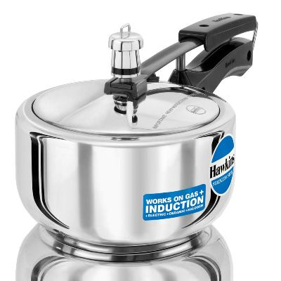 Hawkins Stainless Steel Induction Compatible Pressure Cooker