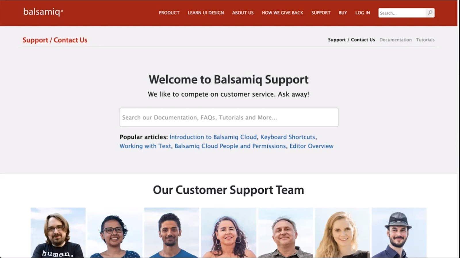 Balsamiq Support Page