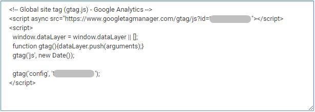 пример кода счетчика аналитики