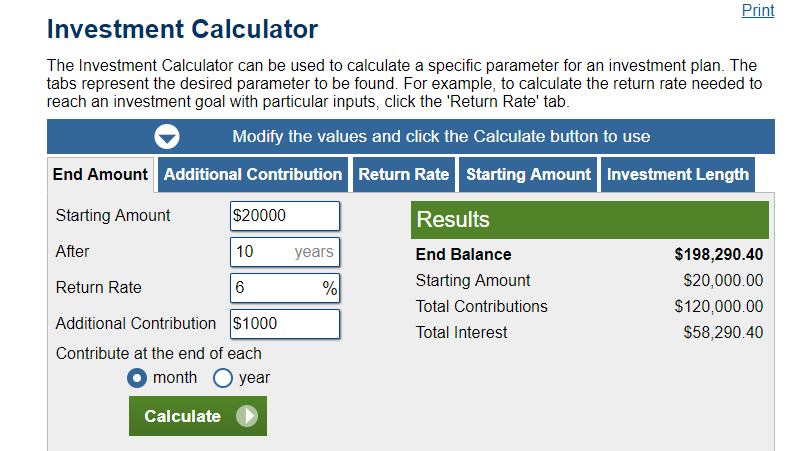Calculator.net Investment Calculator