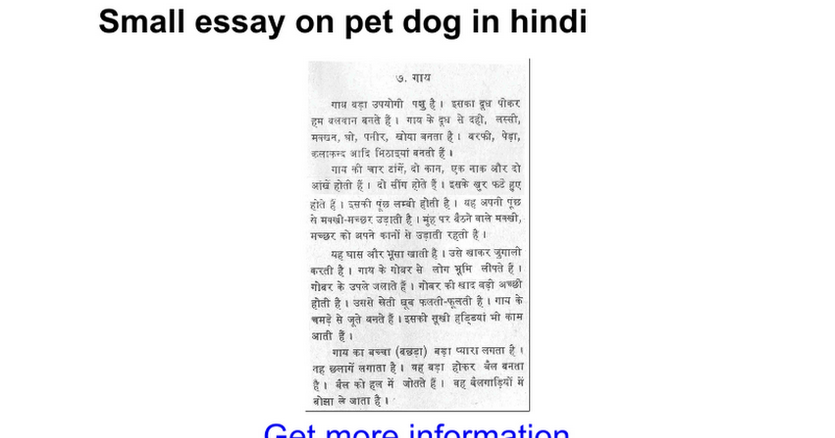 essay on pet dog in marathi
