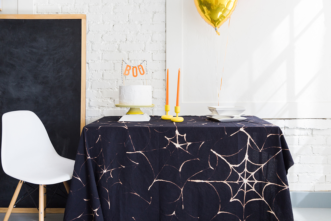 Spiderweb Tablecloth: These 30 DIY Halloween Decorations That Are Wickedly Creative will save you money and allow your creativity to flourish