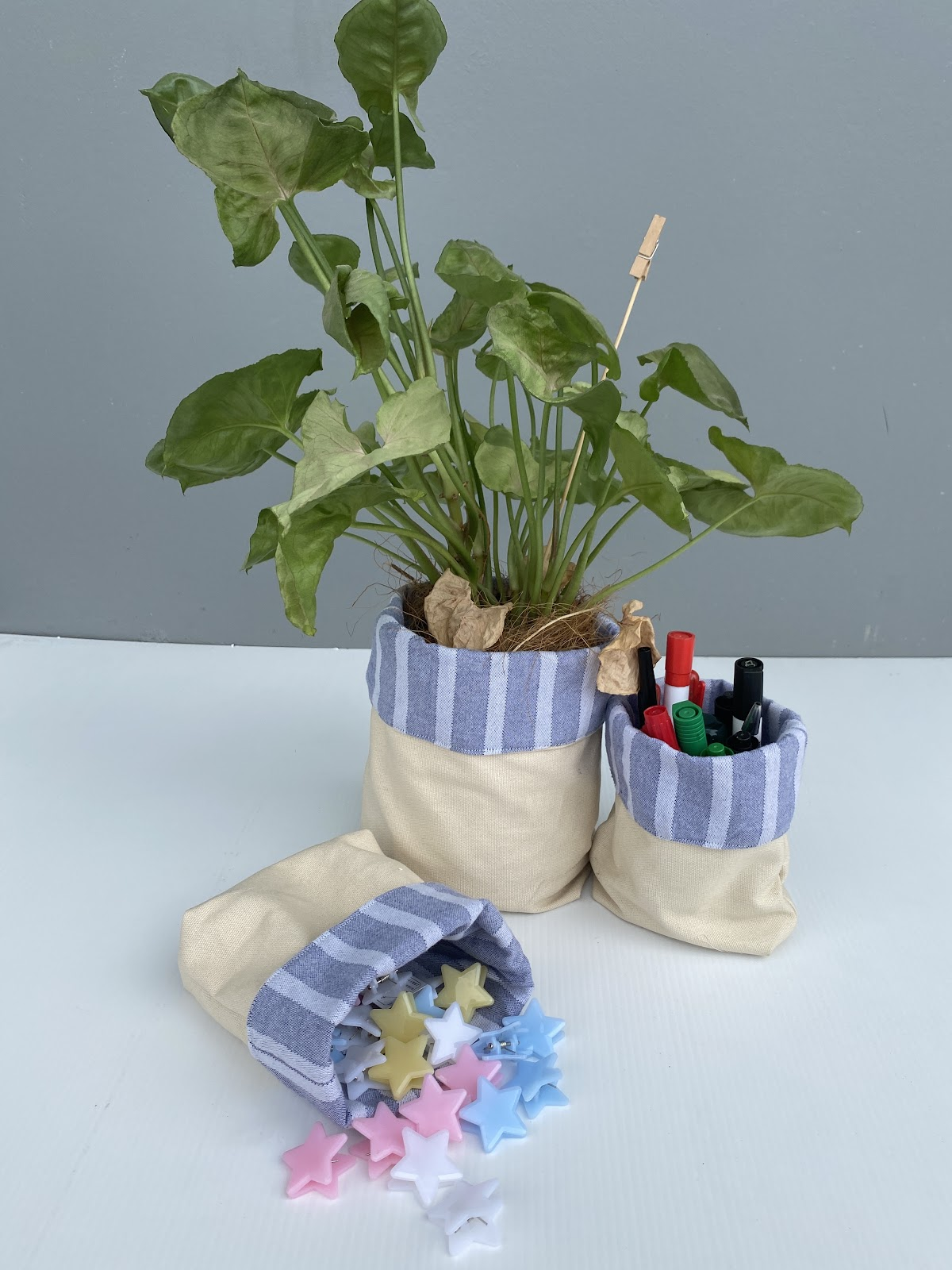 Upcycled Canvas Creations - MULTI-USE STORAGE POTS