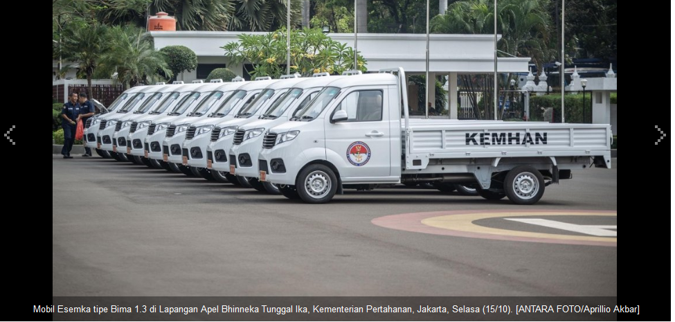 10 Unit Mobil ESEMKA Digunakan Kementerian Pertahanan