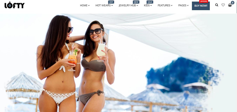 Lofty - Bikini shopify theme