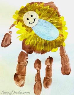 Baby Jesus Manger Handprint Craft Jpg