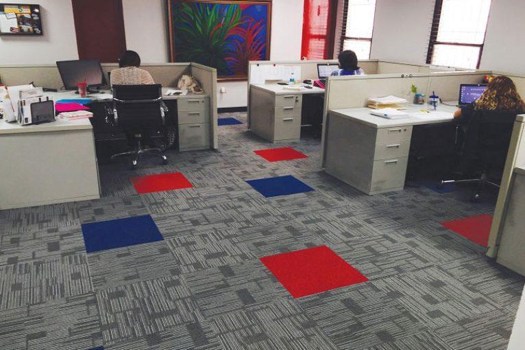 Giặt thảm văn phòng với các không gian rộng