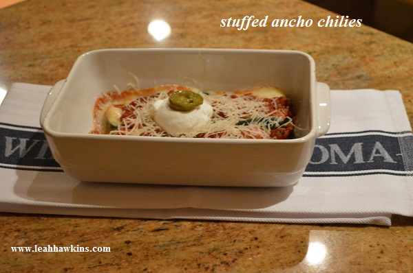 stuffed ancho chilies
