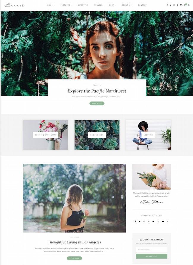 Best WordPress Instagram Theme Laurel