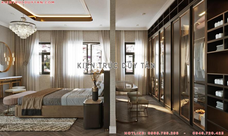 Nội thất phòng ngủ theo phong cách tân cổ điển – view 3
