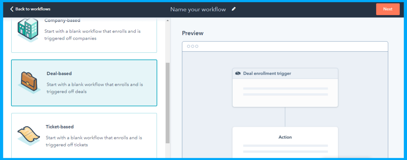 deal based workflow