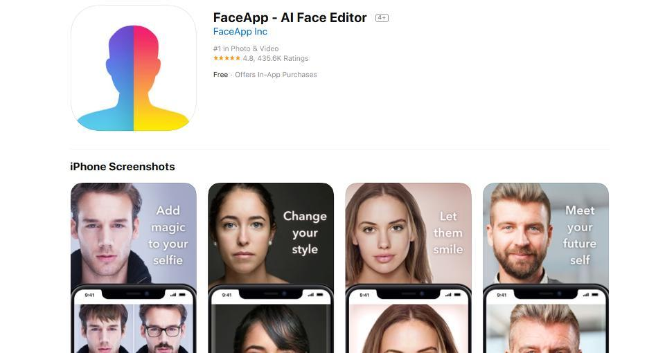 FaceApp has been popular with its Young and Old features