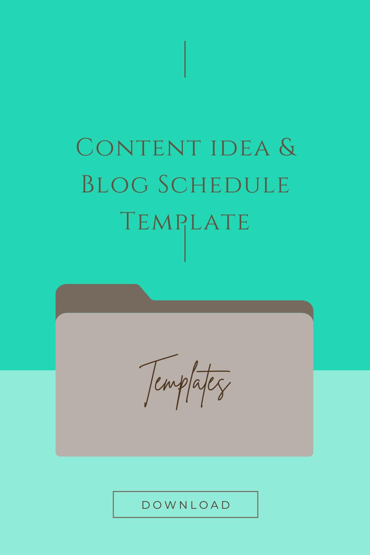 Content Idea & Blog Schedule Template