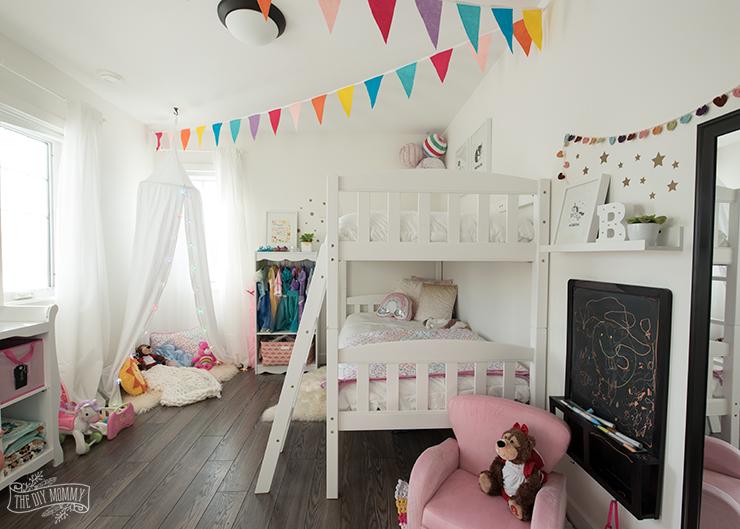 Rainbow Themed Little Girl Bedroom Ideas