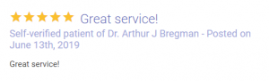 Review of a self-verified patient of Dr Bregman
