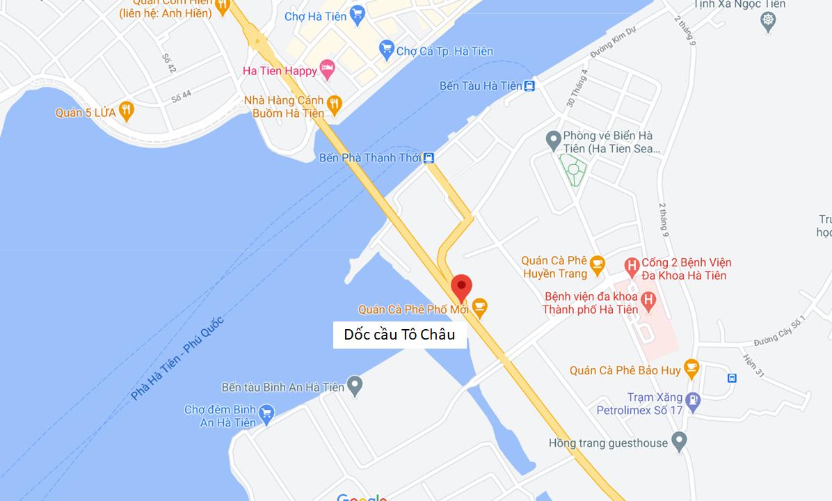 Địa chỉ Văn phòng nhà xe Huệ Nghĩa tại Hà Tiên