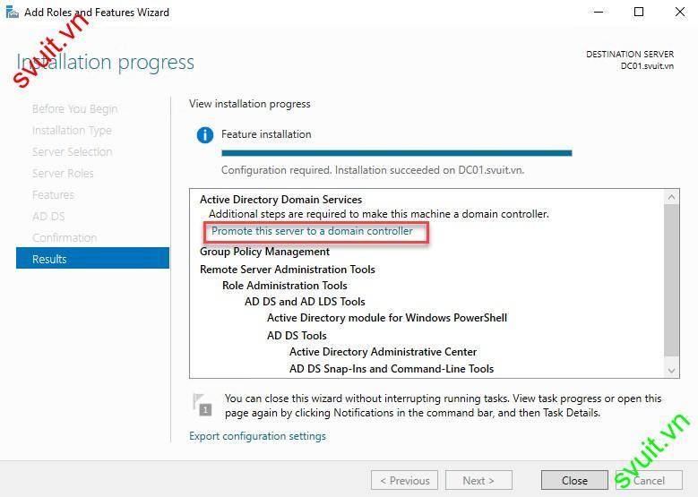 configure Active Directory on windows server 2016 (1)