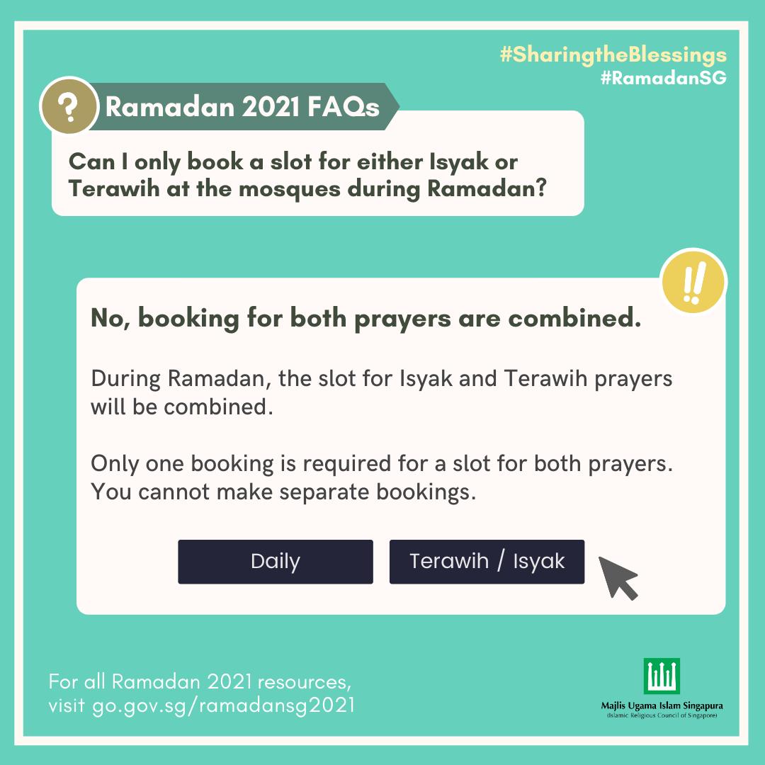 tarawih booking