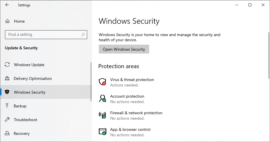 windows sikkerhed