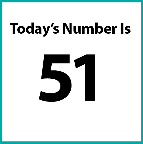 Today's number is 51.