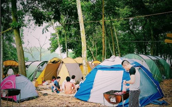 Cắm trại tại khu du lịch 30/4