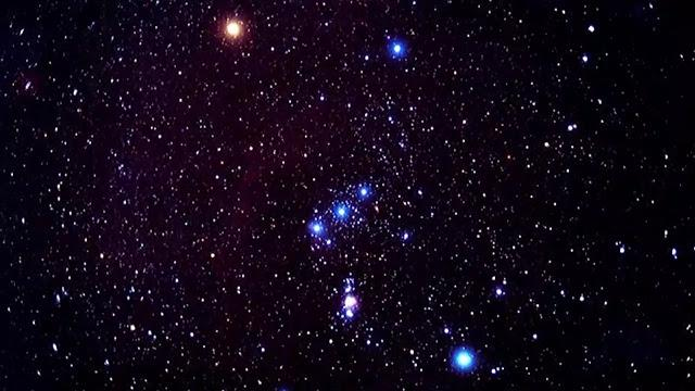 Orion constellation in sky