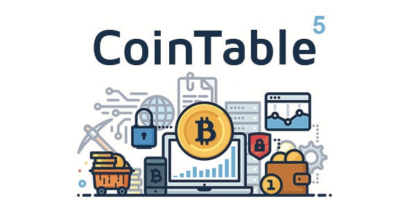 Coin Table - Cryptocurrencies, Exchanges & Mining CMS - CodeCanyon Item for Sale