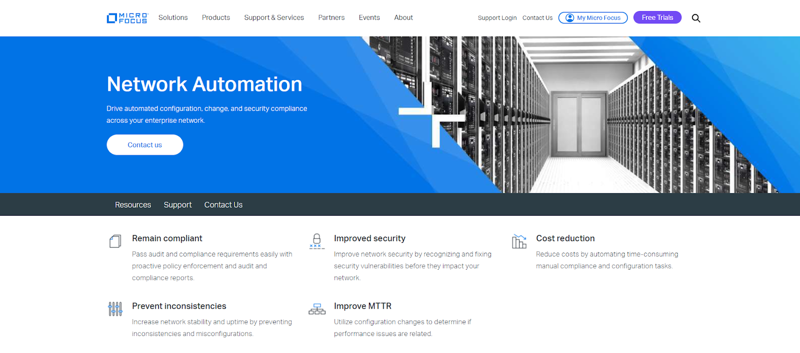 Micro Focus Network Automation Network Monitoring Tool