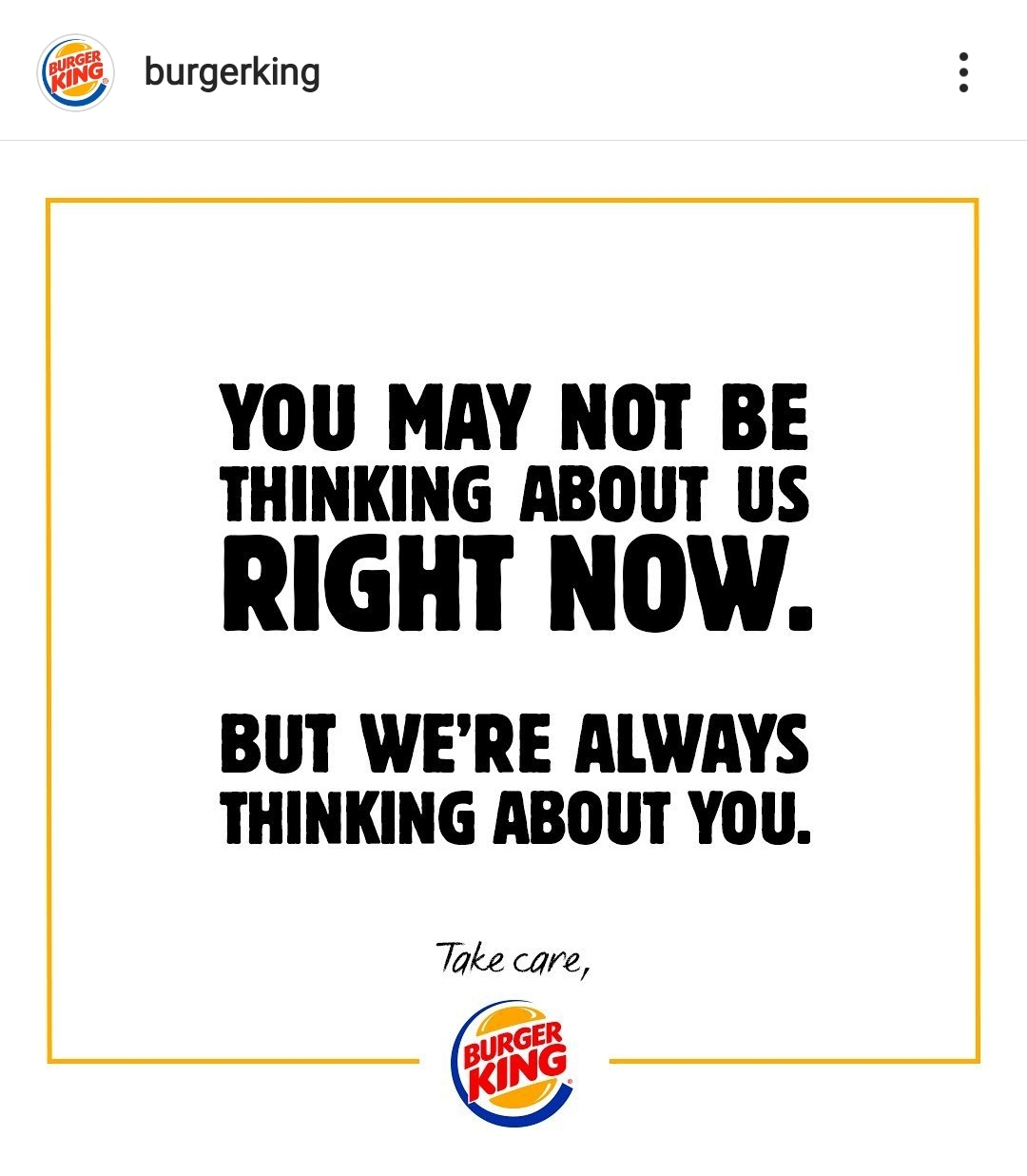 burger king brand awareness covid
