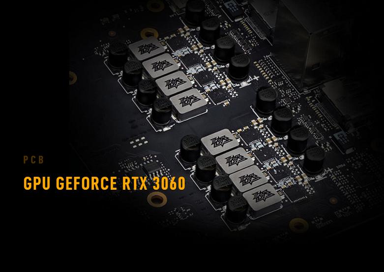 Card màn hình/ VGA ASUS TUF Gaming GeForce RTX 3060 OC 12G (TUF-RTX3060-O12G-GAMING) | Chip xử lý mạnh mẽ