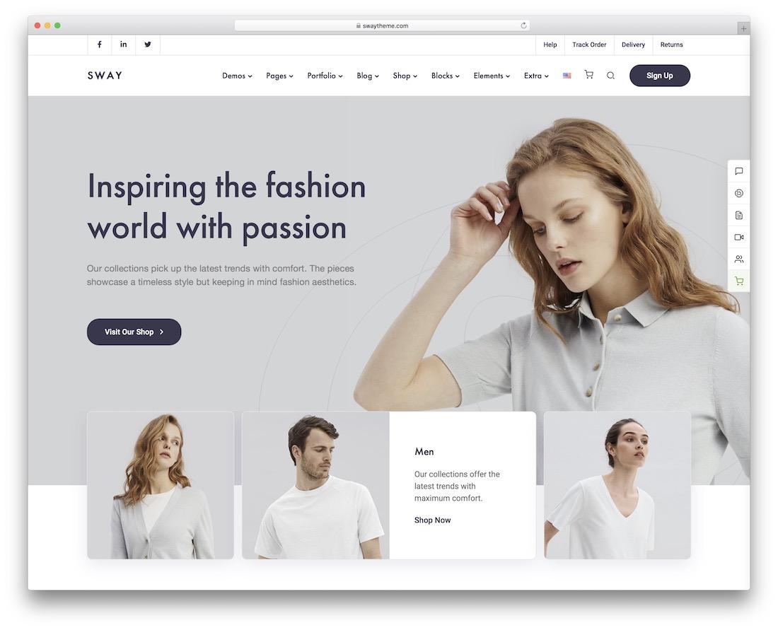 Sway - fashion ecommerce wordpress themes