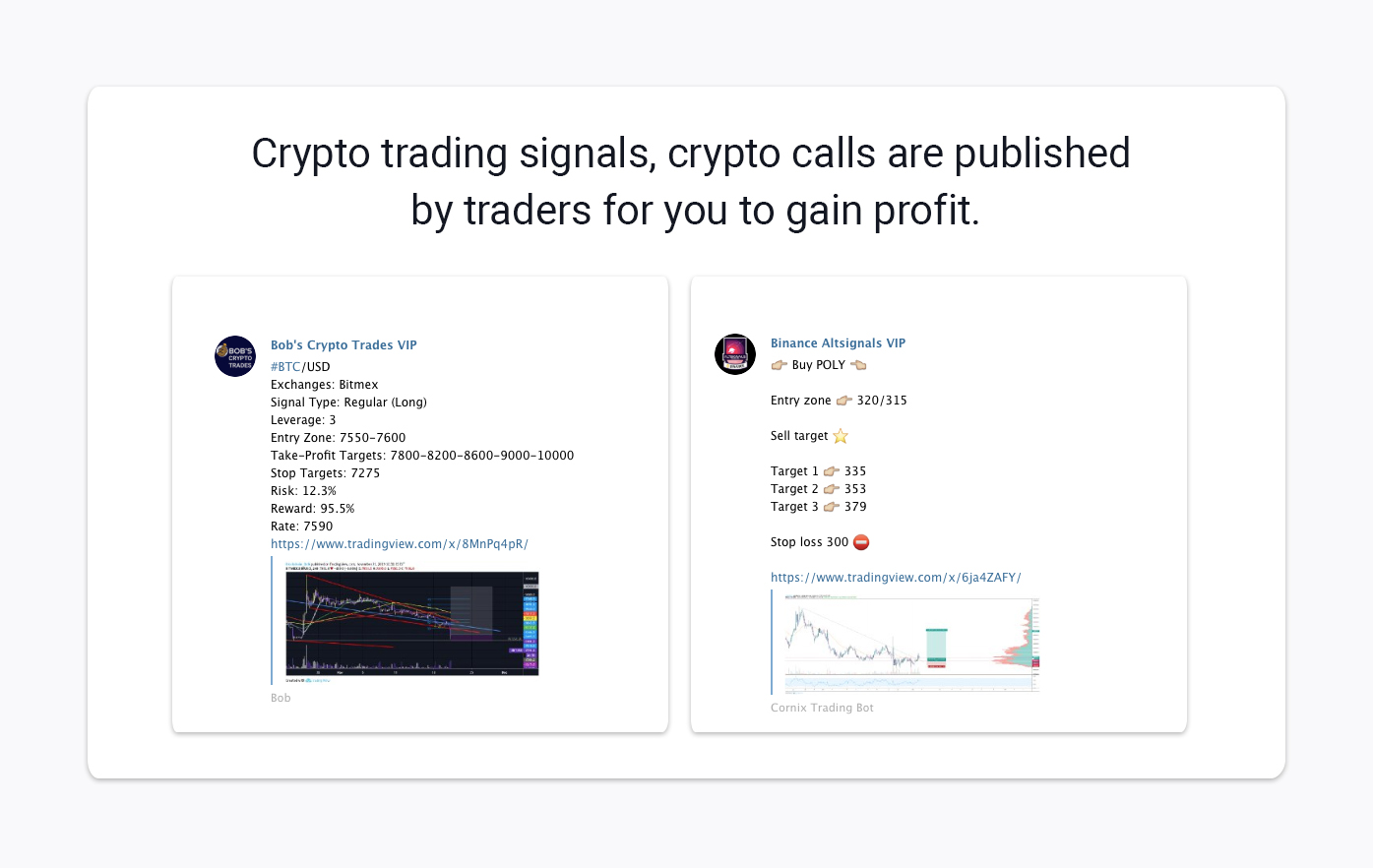 examples of the best free crypto signals